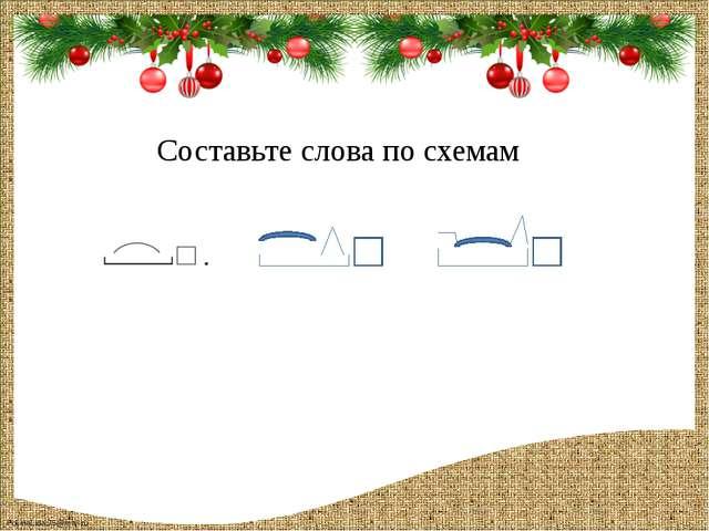 Составьте слова по схемам FokinaLida.75@mail.ru