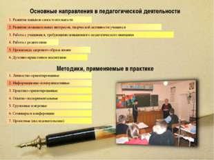Основные направления в педагогической деятельности 1. Развитие навыков самост
