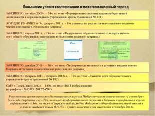 Повышение уровня квалификации в межаттестационный период ЗабКИПКРО, апрель 20