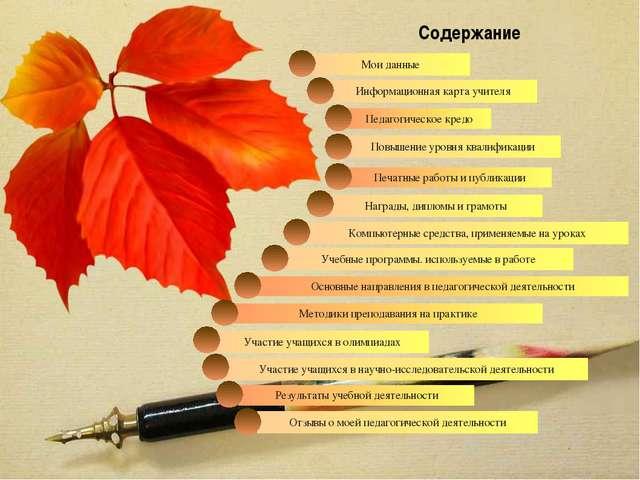 Награды, дипломы и грамоты Печатные работы и публикации Педагогическое кредо...