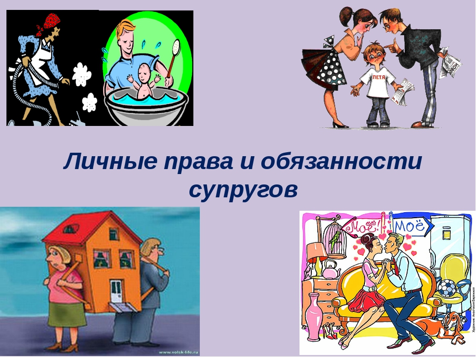 Личные права и обязанности супругов