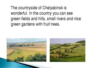 The countryside of Chelyabinsk is wonderful. In the country you can see green