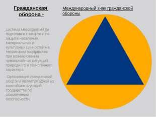 Гражданская оборона - Международный знак гражданской обороны система мероприя