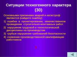 Ситуации техногенного характера (30) Основными причинами аварий и катастроф я