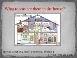 What rooms are there in the house? There is a kitchen, a study, a bathroom, a