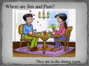 Where are Jim and Pam? They are in the dining room.