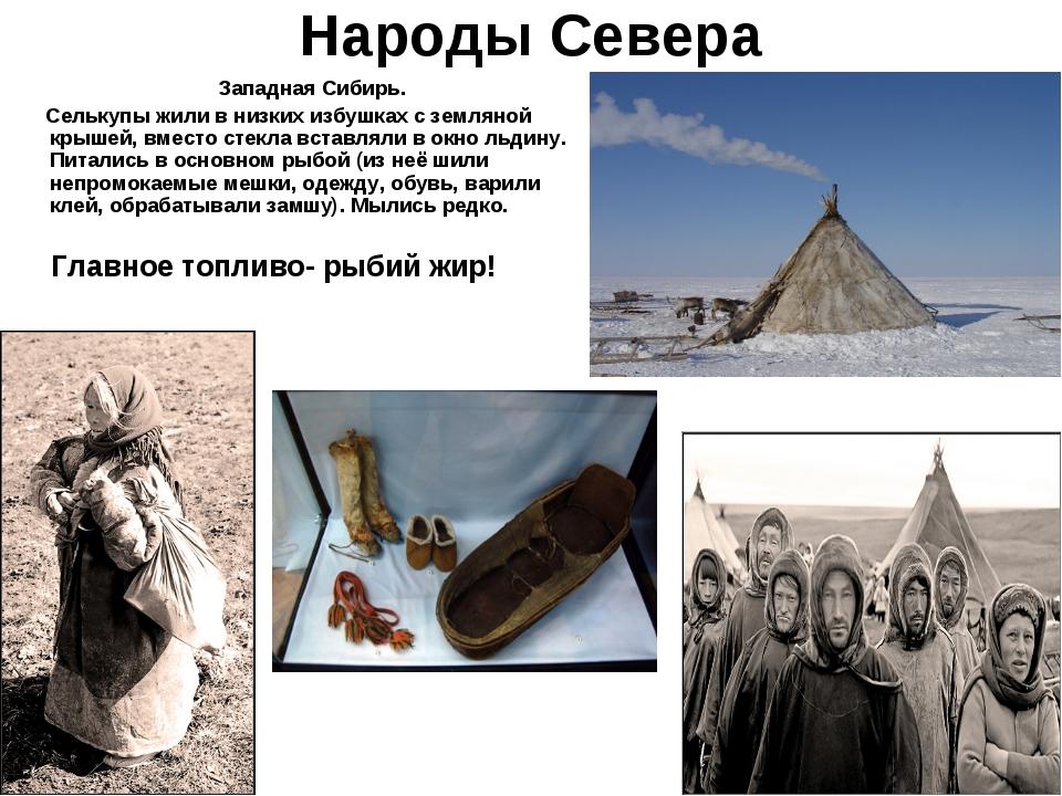 Народы Севера Западная Сибирь. Селькупы жили в низких избушках с земляной кры...