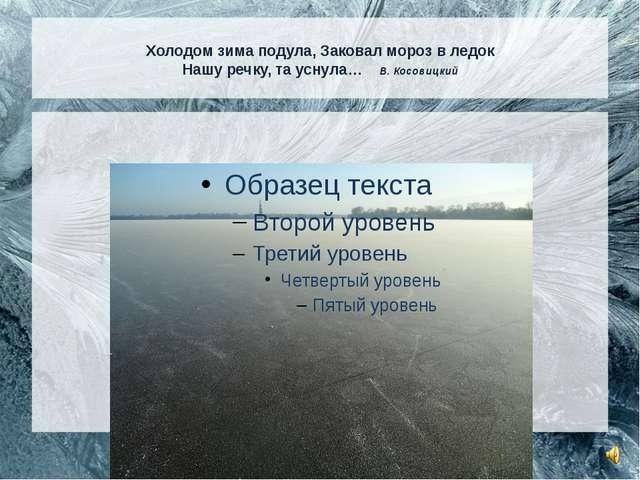Холодом зима подула, Заковал мороз в ледок Нашу речку, та уснула… В. Косовиц...