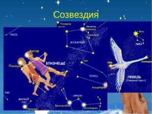 Созвездия В древности созвездиями назывались характерные фигуры, образуемые я