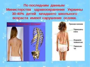 По последним данным Министерства здравоохранения Украины 30-40% детей младше