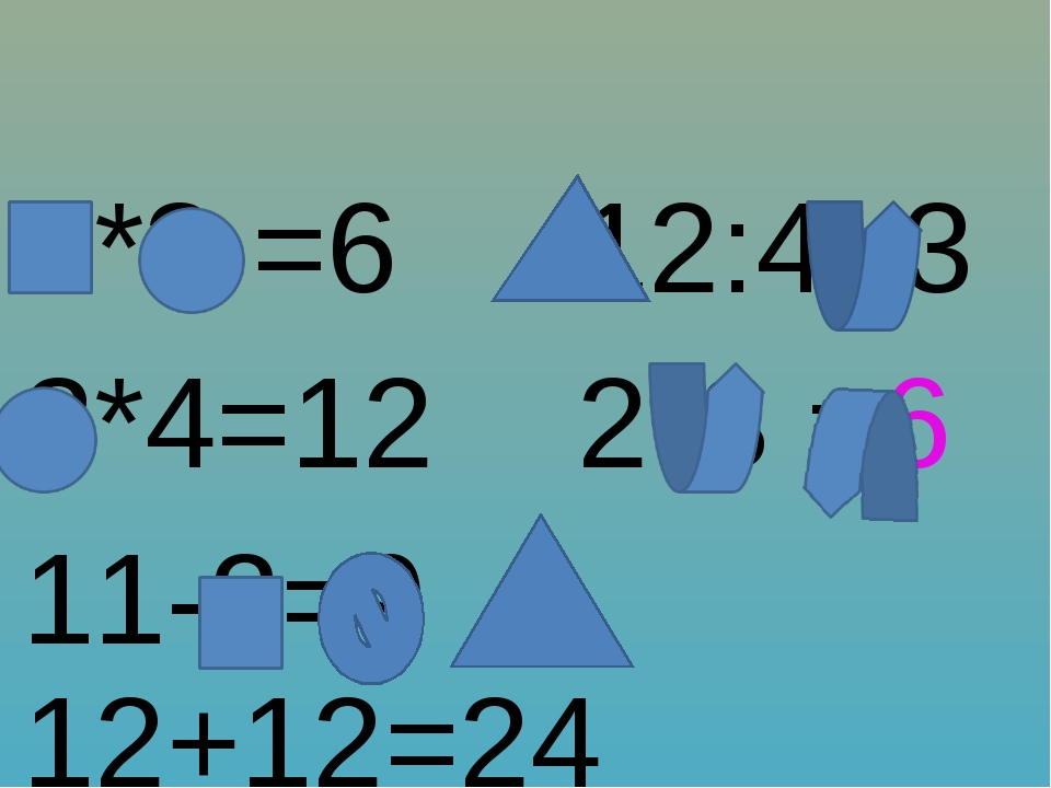 2*3 =6 12:4=3 3*4=12 2*3 =6 11-2=9 12+12=24
