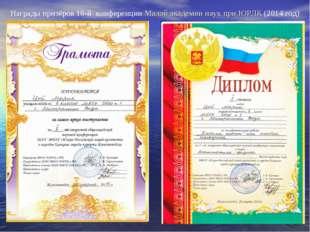 Награды призёров 10-й конференции Малой академии наук при ЮРЛК (2014 год)