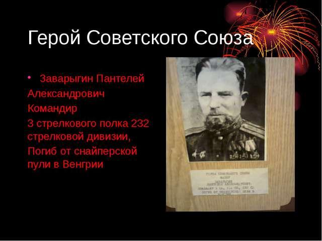 Герой Советского Союза Заварыгин Пантелей Александрович Командир 3 стрелковог...