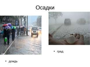 Осадки дождь град