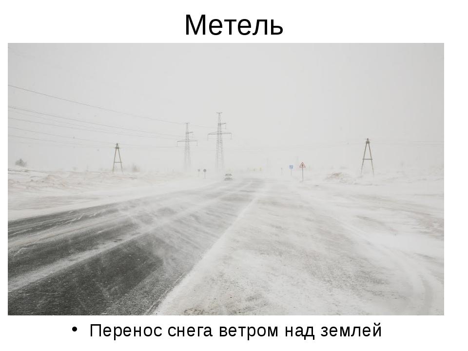 Метель Перенос снега ветром над землей