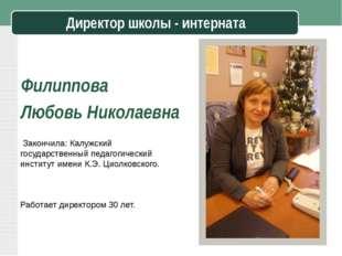 Закончила: Калужский государственный педагогический институт имени К.Э. Циол
