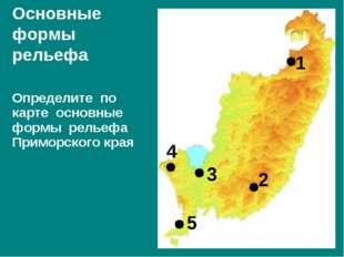 Определите по карте основные формы рельефа Приморского края Основные формы ре