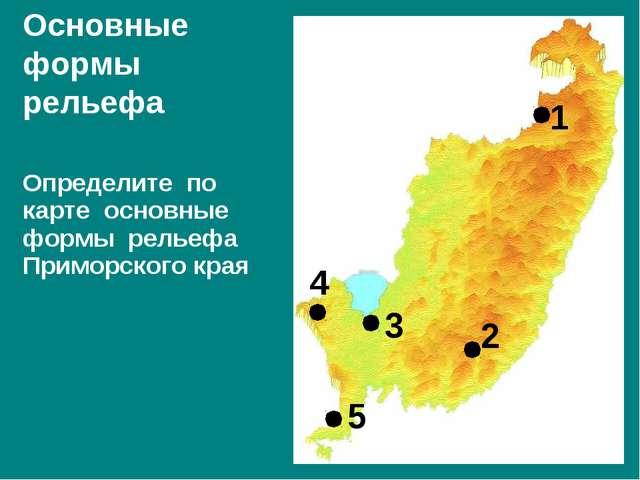 Определите по карте основные формы рельефа Приморского края Основные формы ре...