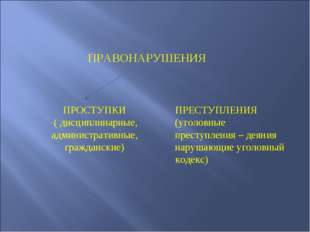 ПРАВОНАРУШЕНИЯ ПРОСТУПКИ ( дисциплинарные, административные, гражданские) ПР