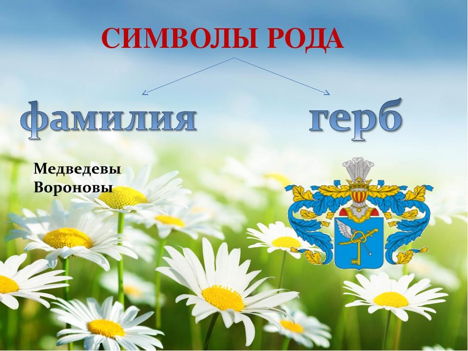 . СИМВОЛЫ РОДА