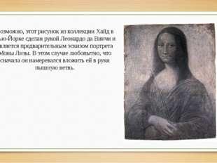 Возможно, этот рисунок из коллекции Хайд в Нью-Йорке сделан рукой Леонардо да