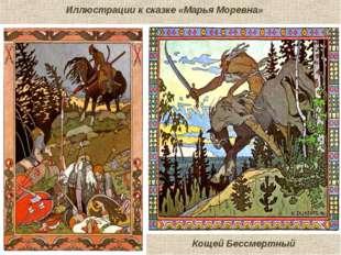 Иллюстрации к сказке «Марья Моревна» Кощей Бессмертный