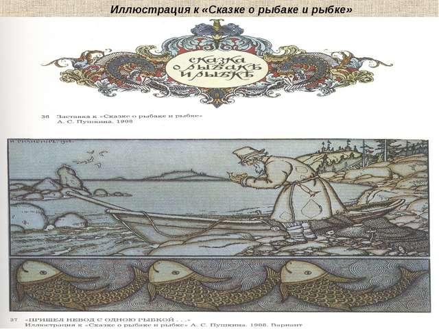 Иллюстрация к «Сказке о рыбаке и рыбке»