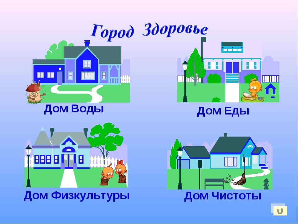 Дом Воды Дом Еды Дом Физкультуры Дом Чистоты