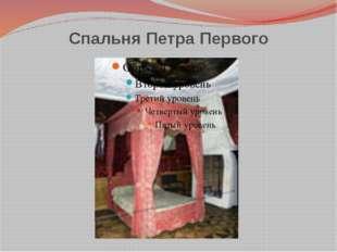 Спальня Петра Первого