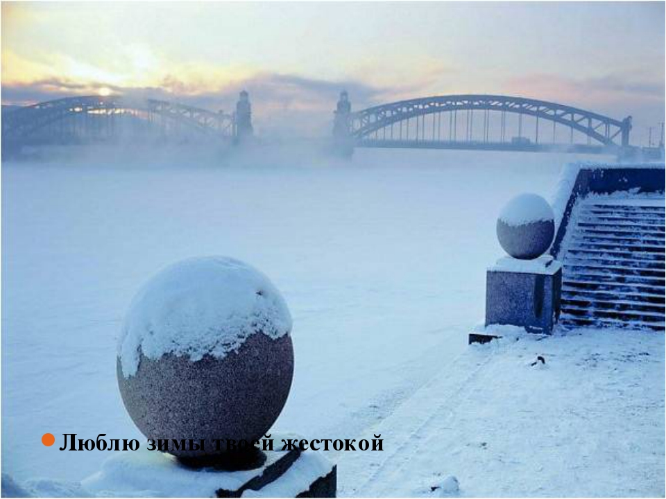 Люблю зимы твоей жестокой