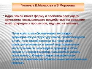 Гипотеза В.Макарова и В.Морозова: Ядро Земли имеет форму и свойства растущего