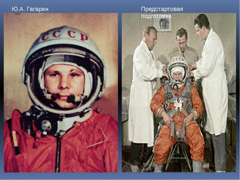 Ю.А. Гагарин Предстартовая подготовка