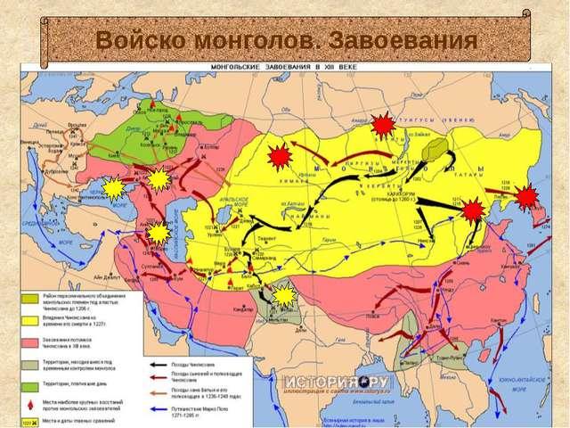 Войско монголов. Завоевания