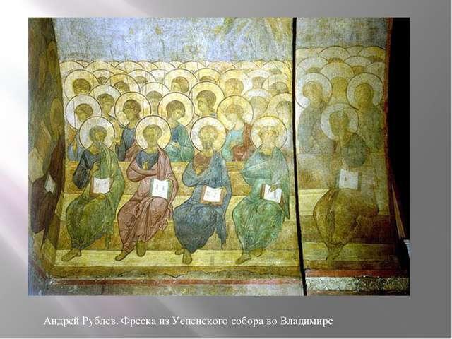 Андрей Рублев. Фреска из Успенского собора во Владимире