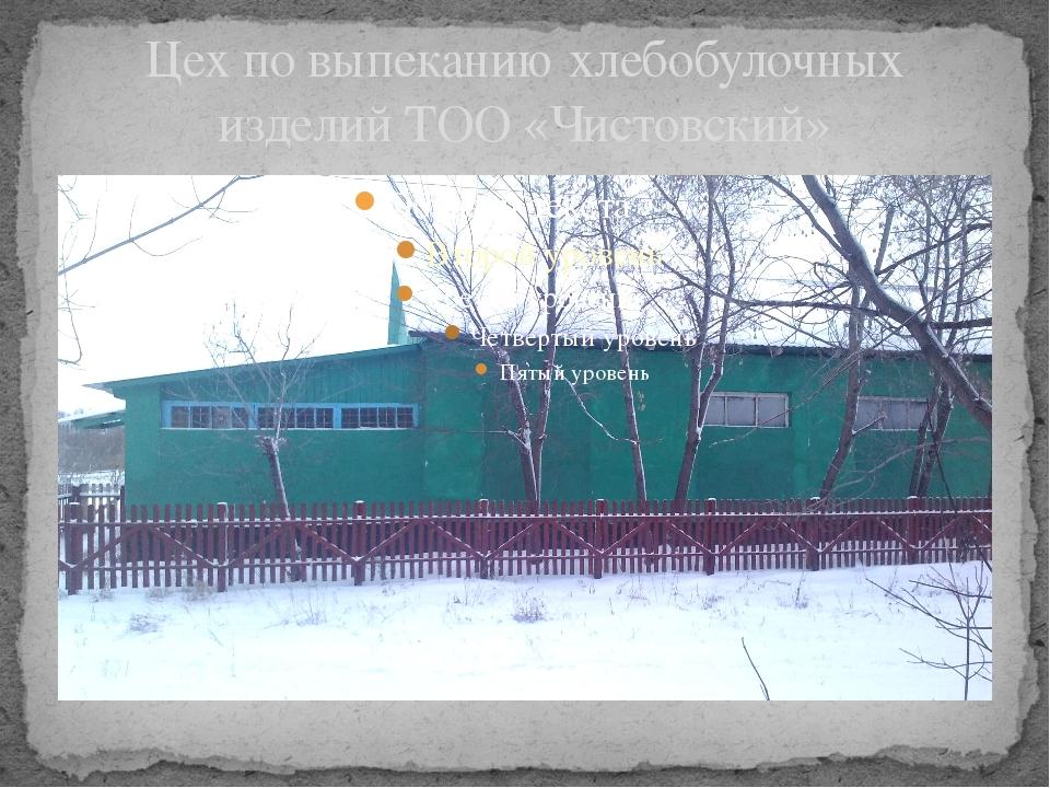 Цех по выпеканию хлебобулочных изделий ТОО «Чистовский»