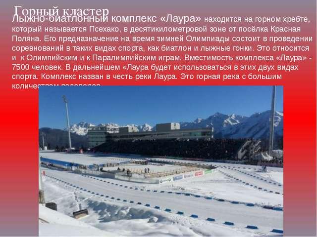 Горный кластер Лыжно-биатлонный комплекс «Лаура» находится на горном хребте,...