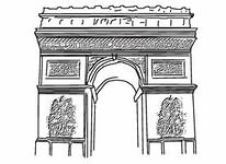 arch de triumph Colouring Pages