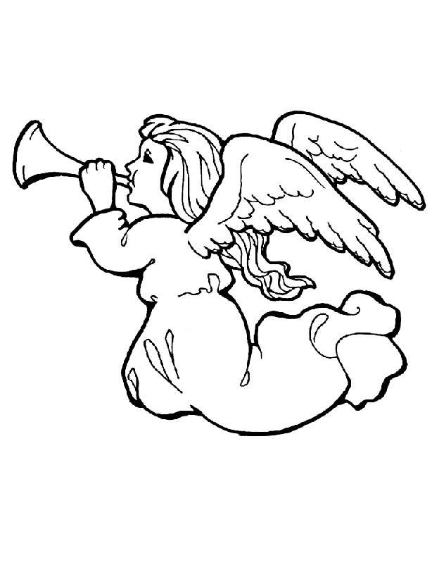 Angel Colouring Sheets