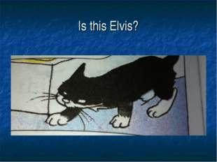 Is this Elvis?