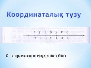 0 – координаталық түзуде санақ басы