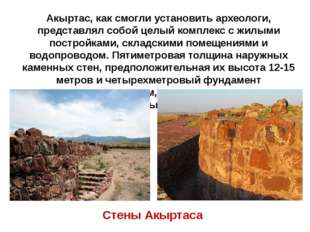 Акыртас, как смогли установить археологи, представлял собой целый комплекс с