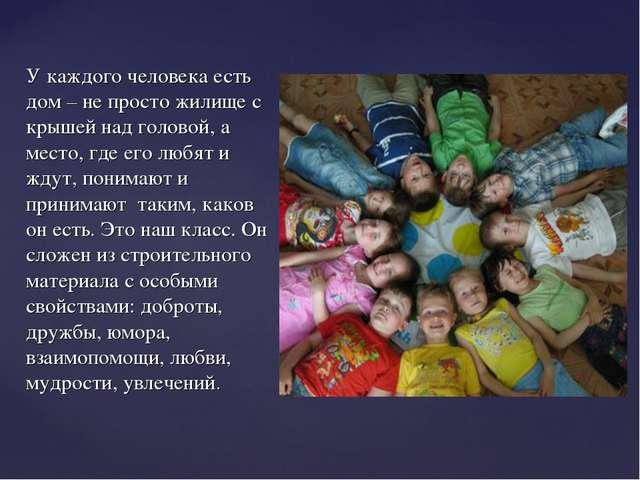 У каждого человека есть дом – не просто жилище с крышей над головой, а место,...