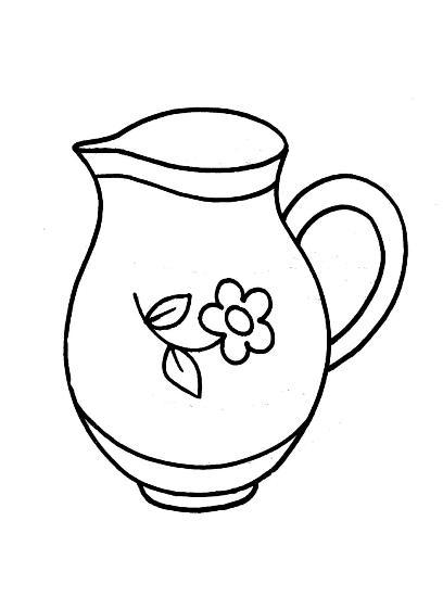 Раскраски для малышей. Раскраска Посуда размалевки розмальовки для дітей