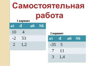 1 вариант 2 вариант а1da6S6 104  -253 21,2 а1da6S6 -355  7