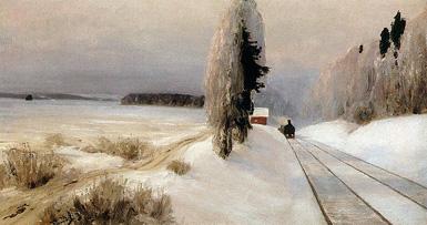 Железная дорога близ станции Тарусская :: Поленов Василий Дмитриевич, 1903 год