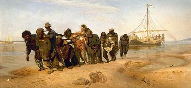 Бурлаки на Волге :: Репин Илья Ефимович, 1870–73 год