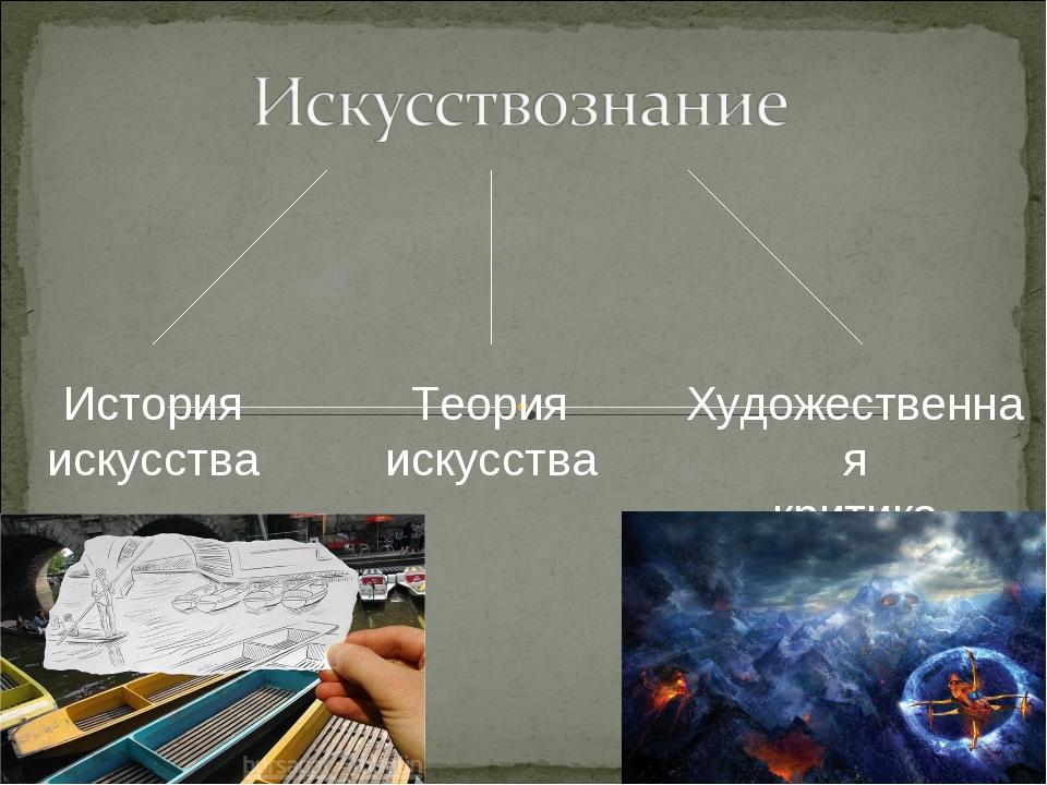 Теория искусства Художественная критика История искусства