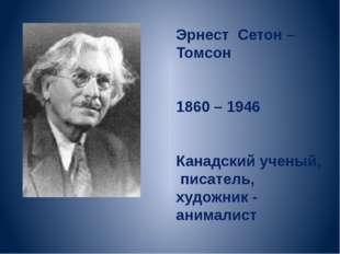 Эрнест Сетон – Томсон 1860 – 1946 Канадский ученый, писатель, художник - аним