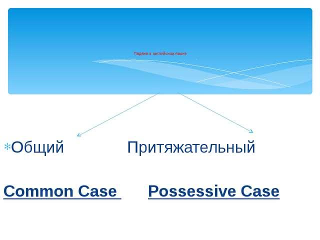 Общий Притяжательный Common Case Possessive Case Падежи в английском языке