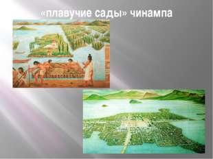 «плавучие сады» чинампа